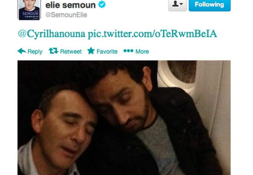 Dur le réveil pour Elie Semoun et Cyril Hanouna