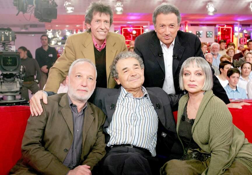 Pierre y accompagne ses amis Pierre Pechin, François Berléand et Marie Laforêt