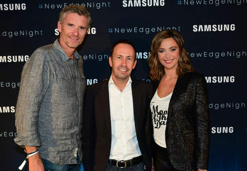 Denis Brogniart , Sandrine Quétier et Jean-Philippe Illarine, Vice-Président Samsung Electronics France