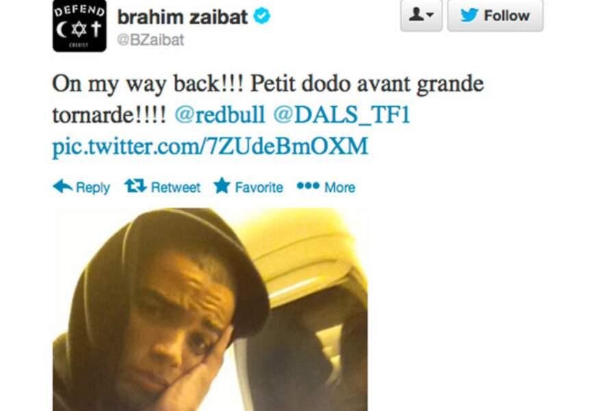 De retour de NY, Brahim Zaibat se repose avant de faire le show demain sur TF1