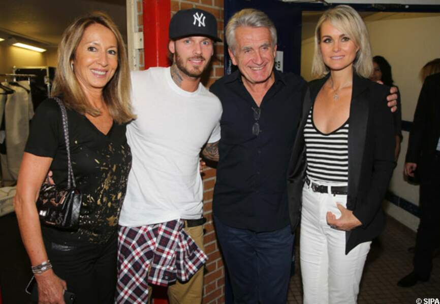 Nicole Coullier, M Pokora, Gilbert Coullier, Laeticia Hallyday
