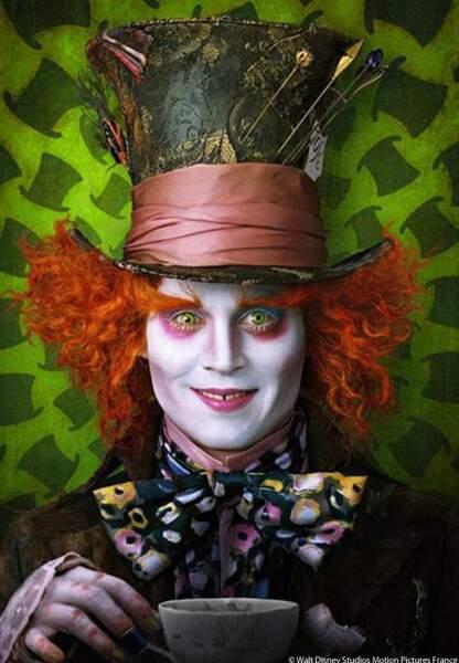 Le Chapelier fou dans Alice au Pays des Merveilles de Tim Burton