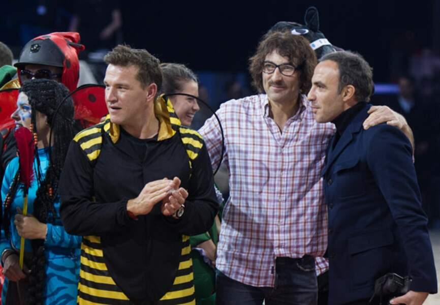 Benjamin Castaldi, Nikos Aliagas et Nicolas Canteloup