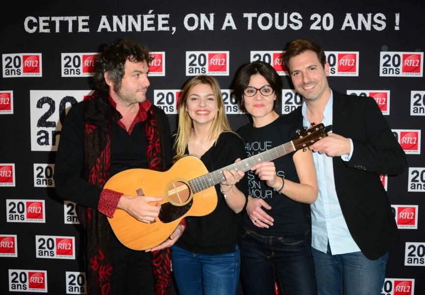 M, Louane, Carole Vega et Grégory Ascher
