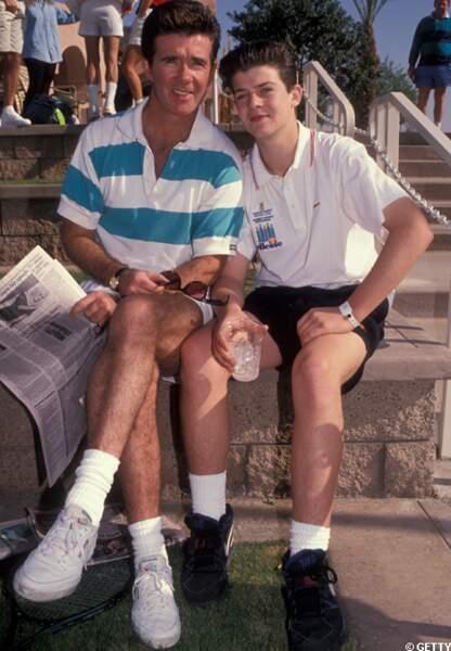Robin Thicke et son père en 1991