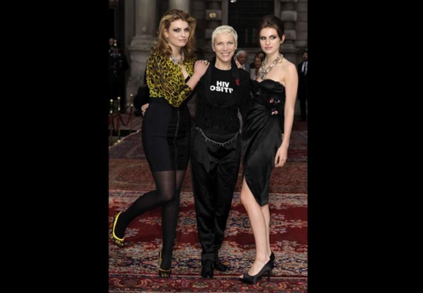 Annie Lennox et ses filles Lola et Tali pour les 20 ans de Cavalli