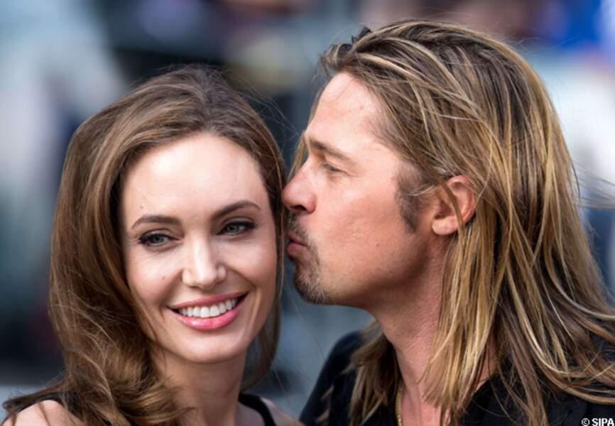 Brad Pitt et Angelina Jolie à l'avant-première de World War Z en 2013