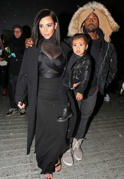 La famille West Kardashian: Kanye, Kim et North