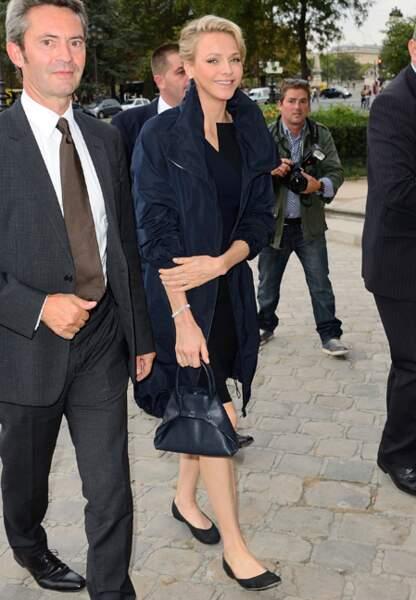 La princesse tout sourire de voir son ami le créateur Albert Kriemler