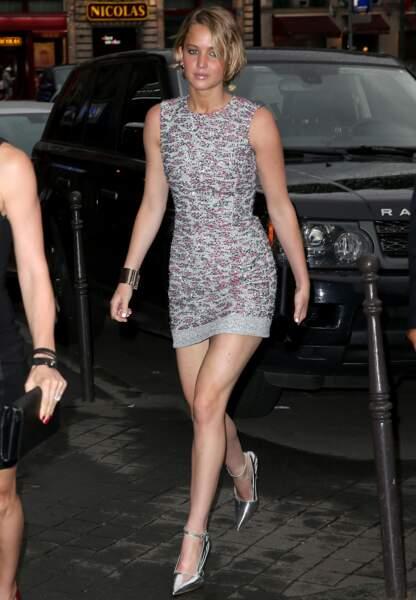 Jennifer Lawrence belle de nuit au dîner Dior