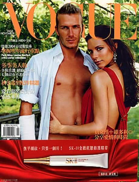 David et Victoria bucoliques pour le Vogue Asie