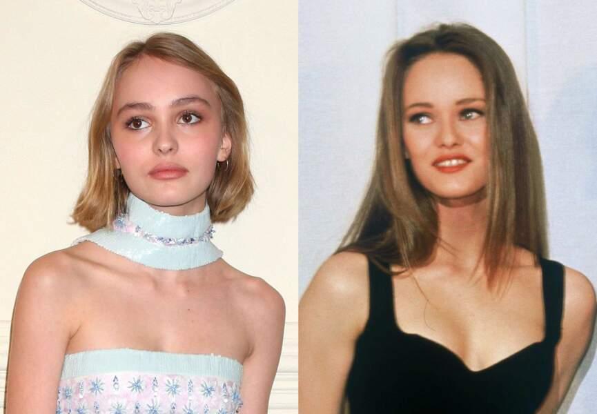 En replongeant dans les photos d'ado de Vanessa Paradis, la ressemblance avec Lily Rose saute au visage