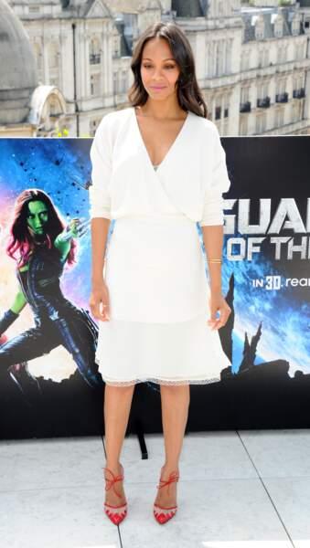 Zoe Saldaña en Chloé