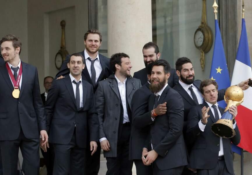 Les champions du monde fiers d'être reçus par le président de la République