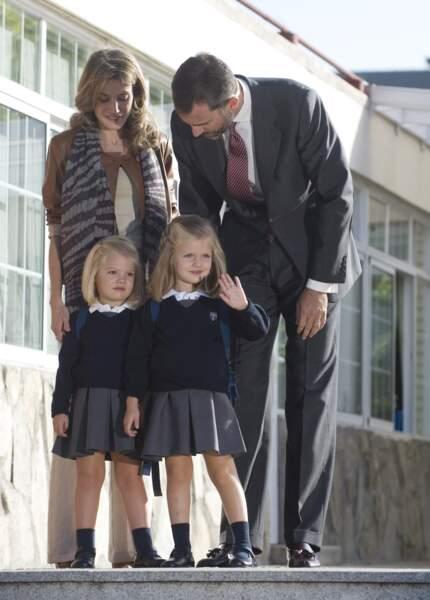 C'est au tout de la princesse Sofia d'Espagne de faire sa première rentrée en 2010