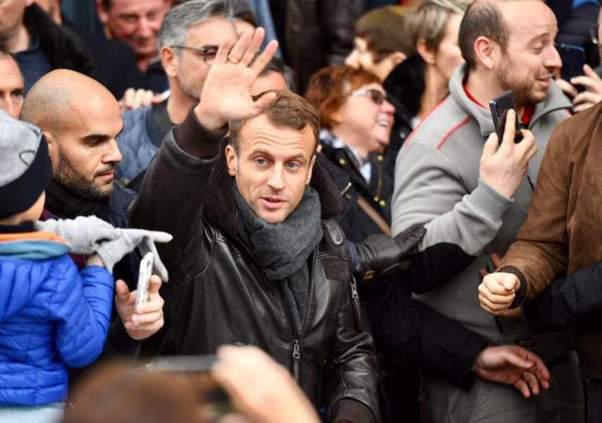 Emmanuel Macron et Brigitte Macron, à Honfleur, le 1er novembre 2018.