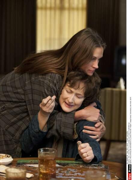 """Avec Meryl Streep dans """"Un été à Osage County"""" en 2013"""