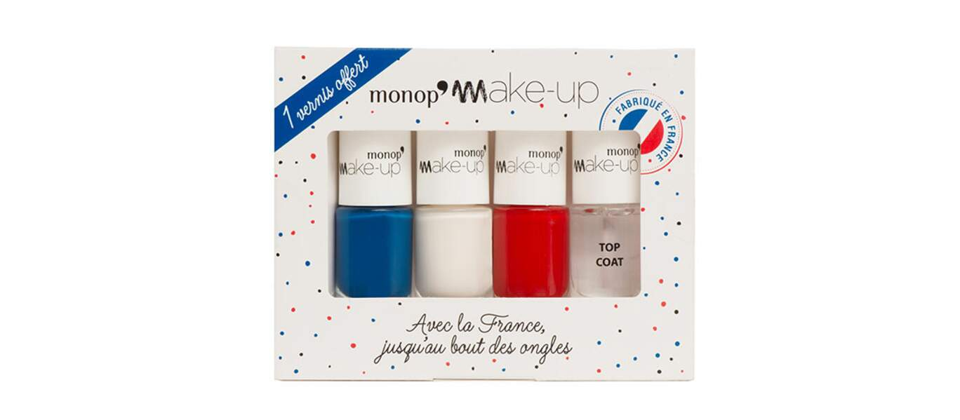 Coffret Vernis Tricolore, Monop' Make-Up, 9,95€