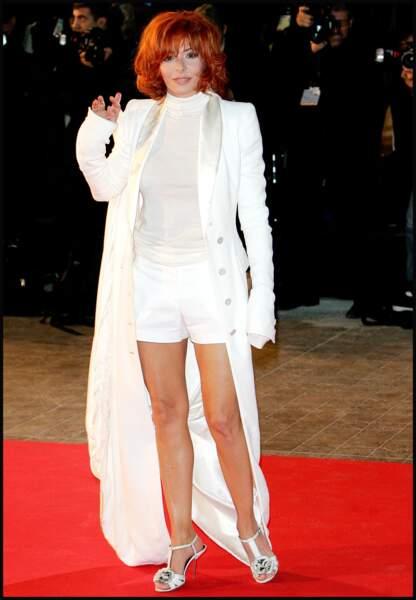 Mylène Farmer lors de la 10e édition des NRJ Music Awards à Cannes en 2009