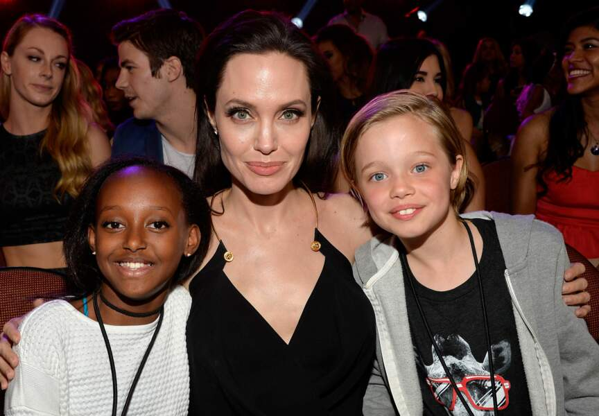Angelina Jolie avec Shiloh et Zahara