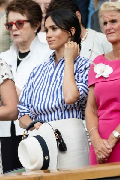 Meghan Markle a dû retirer son chapeau pour ne pas gêner les autres spectateurs !