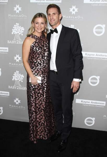 Jessica Capshaw et son mari Christopher Gavigan en 2015