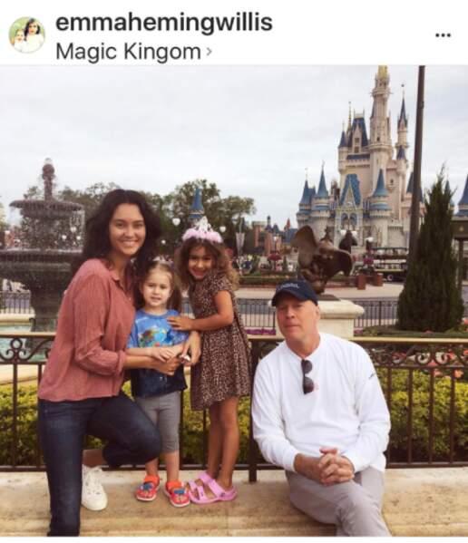 Bruce Willis à Disney World en famille
