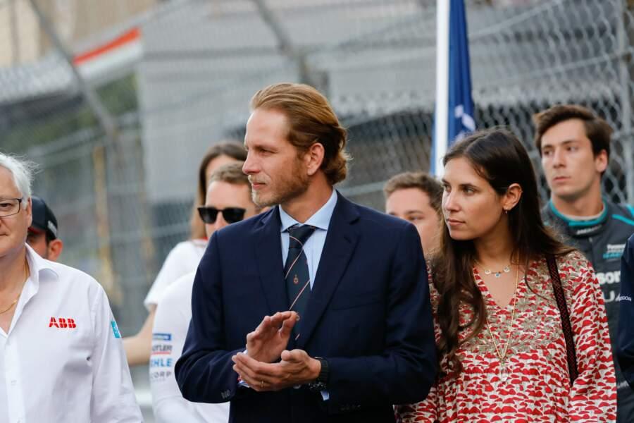Andrea Casiraghi et sa femme Tatiana concentrés sur la course de Formule-E