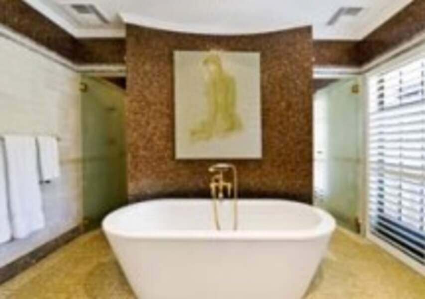 L'une des salles de bain de la villa de Meghan Markle et du prince Harry en Australie