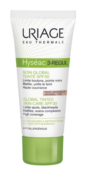 Soin global teinté SPF30 Hyséac 3-Regul, Uriage, 13,90 €