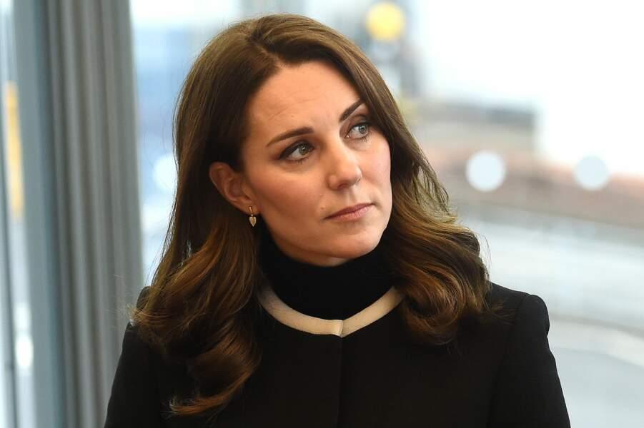 Toujours très chic, Kate Middleton porte un manteau Goat Fashion qu'elle a depuis sa seconde grossesse