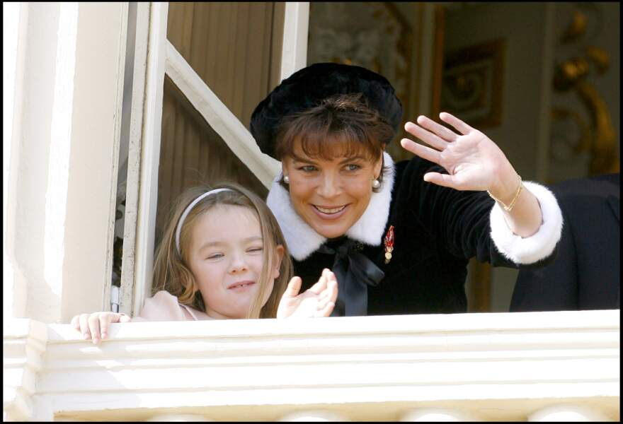 Alexandra de Hanovre et la princesse Caroline lors de la fête monégasque le 19 novembre  2006