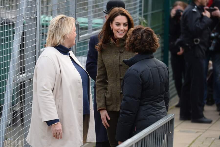 La duchesse a été accueillie très chaleureusement