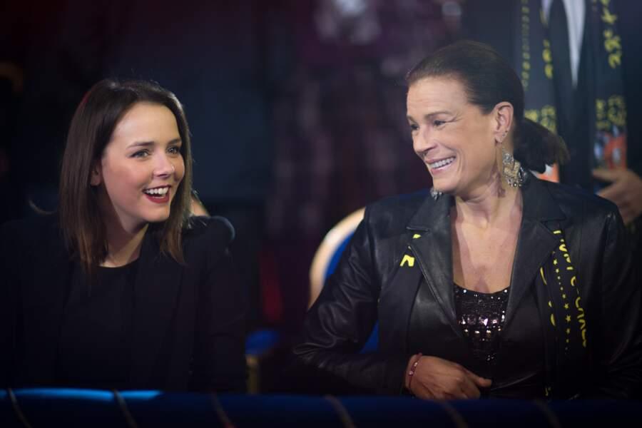 Stephanie de Monaco et sa fille Pauline Ducruet lors du festival du cirque de Monte Carlo, le 18 Janvier 2014