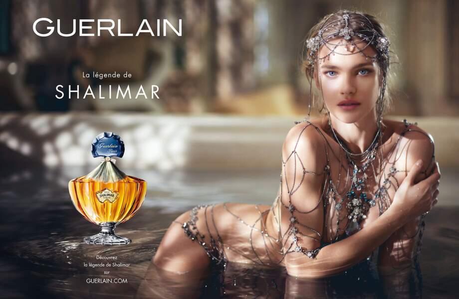 """Pour """"Shalimar """"de Guerlain Natalia Vodianova devient une princesse des mille et une nuit en 2013"""