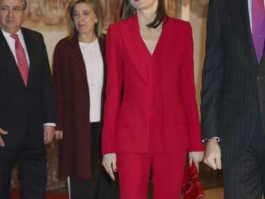 Letizia d'Espagne sublime en total look rouge