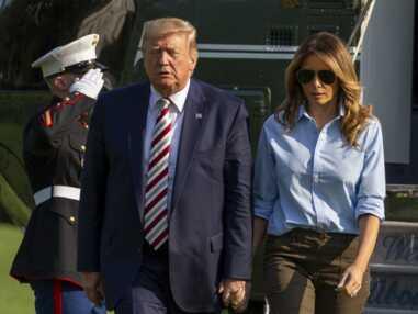PHOTOS - Melania Trump fait sensation dans un look militaire chic
