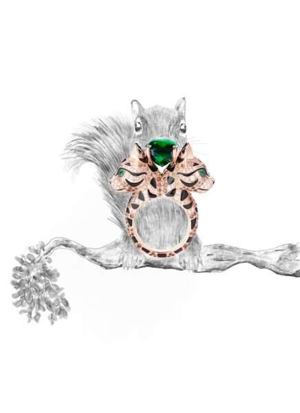 Bague Fuzzy, le Chat Léopard, de Boucheron