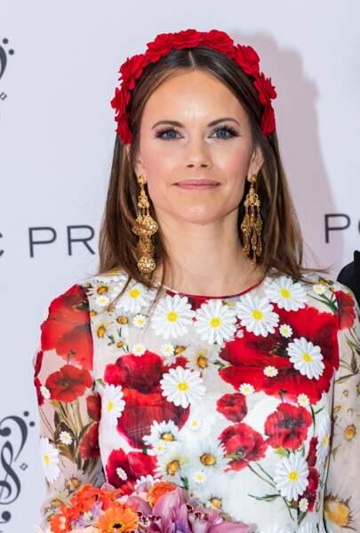 Un look très romantique pour la princesse Sofia de Suède lors du Polar Music Prize 2019 à Stockholm