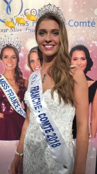 Lauralyne Demesmay, 18 ans, a été sacrée Miss Franche-Comte et tentera de devenir Miss France 2019