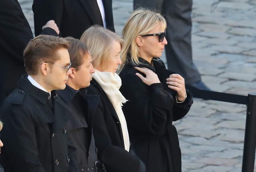 Nicolas, Mischa, Ulla et Katia lors de l'hommage national à Charles Aznavour ce 5 octobre