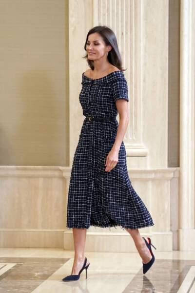 Letizia d'Espagne présentait un brushing semblable à celui de la duchesse de Cambridge