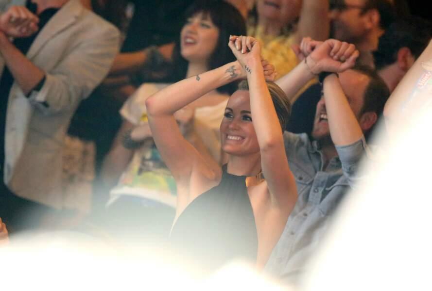 Laeticia Hallyday au concert de Johnny Hallyday à Bercy le 15 juin 2013