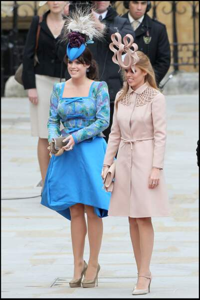 Beatrice et Eugenie d'York au mariage de Kate Middleton et du prince William, le 29 avril 2011