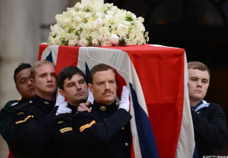 Le cercueil de Margaret Thatcher