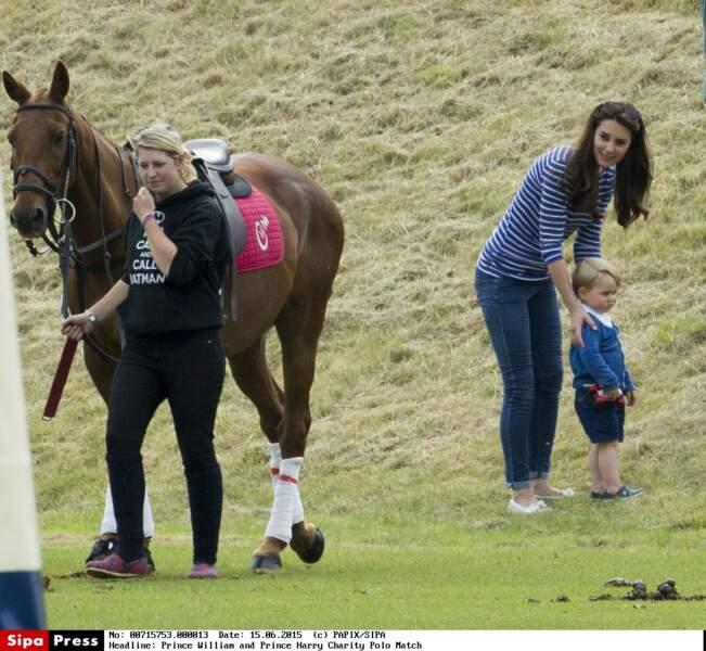 Prince George découvre le polo (juin 2015)