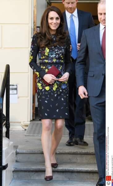 """Kate Middleton lors du lancement de la campagne """"Heads Together"""" à Londres, le 17 janvier 2017"""