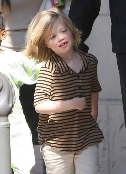 Shiloh Jolie-Pitt, à la Nouvelle-Orléans en mars 2011