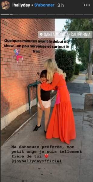 Laeticia Hallyday est très fière des talents de danseuse de sa fille Joy.