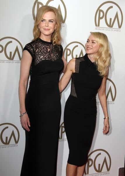 """Nicole Kidman et Naomi Watts à la cérémonie des """"Producers Guild Awards"""" à Beverly Hills le 26 Janvier 2013"""